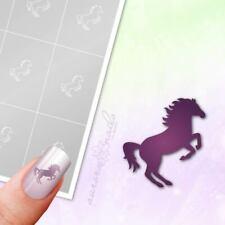 Schablonen für Airbrush und Nailart M517 Tier Pferd Pferdchen Pferde Tiere 80x