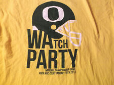 2011 National Championship Game OREGON DUCKS Watch Party T Shirt Large L