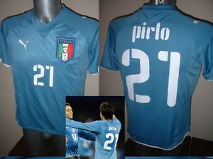 Italy Italia Pirlo 09 Puma Shirt Jersey Football Soccer Adult XXL Milan Juventus