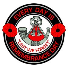 The Light Infantry Remembrance Day Inside Car Window Clear Cling Sticker