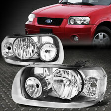 FOR 05-07 FORD ESCAPE CHROME HOUSING CLEAR CORNER HEADLIGHT REPLACEMENT HEADLAMP