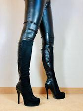 Hohe High Heels Stiefel Luichiny Damen Männer Boots EU42 UK8 US11 15cm Heels
