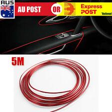 5M Auto Car Chrome Gap Trim Moulding Strip Edge Decorative Line Interior Red A