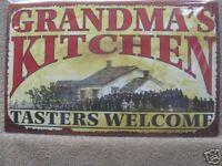 Grandma's Kitchen Vintage Look Tin Metal Sign