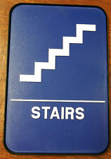 STAIRS Sign +Frame ADA Compliant Blue w/Braille Public Accommodations Facilities