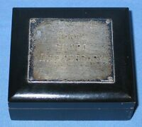 "Vintage LUNT Sterling ""Happy Silver Anniversary"" Jewelry Trinket Box #31"