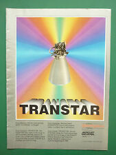 10/1986 PUB AEROJET TECHSYSTEMS TRANSTAR ENGINE SPACE PROPULSION ORIGINAL AD