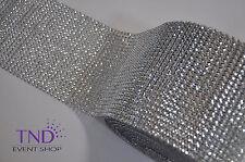 DIAMOND MESH WRAP ROLL CRYSTAL RHINESTONE SPARKLE BLING RIBBON/WEDDING DECOR