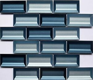 Stainless Steel and Glass Mosaic Tile Blends, Kitchen Backsplash Wall Bathroom