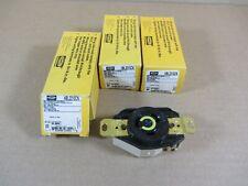 HUBBELL WIRING DEVICE-KELLEMS HBL26W76BK 20A Watertight Locking Plug 3P 4W