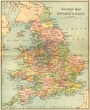 ENGLAND WALES. RAIL MAP. Philip 1873 old antique vintage plan chart