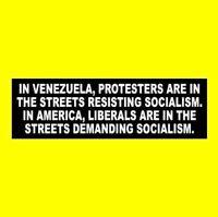 """LIBERALS ARE IN THE STREETS DEMANDING SOCIALISM"" Anti Bernie Sanders STICKER"
