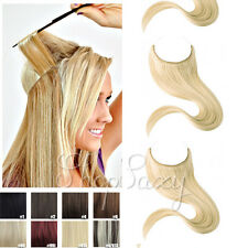 Long Halo secert Invisible Wire Human Hair Extensions Remy Hair Elastic Full Hea