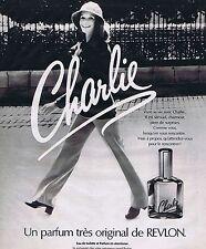 PUBLICITE ADVERTISING 045 1975 REVLON parfum Charlie