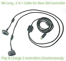 3M 9FT USB 2in1 Charging Play & Charge Lead Cable for Xbox 360 Controller Pad