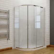 Quadrant Shower Enclosure Walk in Corner Cubicle Glass Screen Door Tray Waste 1200x900mm Left Hand No
