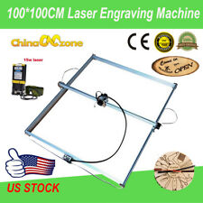 New listing 100*100Cm 2Axis Laser Engraving Machine Router Kit Diy Engraver&15W Laser Module