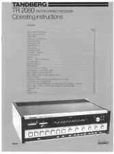 TANDBERG  RECEIVER  MODEL TR-2080 INSTRUCTION & SERVICE MANUALS ~ RARE ~ LOOK !