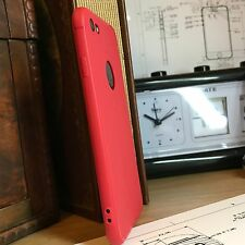 iPhone 7 Case Impact Proof Flexi Silicone Micro Bumper &  Screen Protector Red