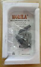 Coppia Reggimensole 12cm in metallo cover in plastica bianca italia reggimensola