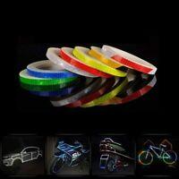 8M Reflective Stickers Hi Vis Viz Safety Car Bicycle Cycling DIY Reflector Tape