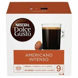 Nescafe Dolce Gusto Americano Intenso Pods 16/ 32/ 48/ 64/ 80 Drinks