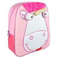 Kids Minions Unicorn 3D Backpack School Bag Girls Fluffy Rucksack Pink Horse