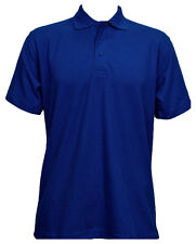 "2 X Uneek Olympic Polo Shirt Work Wear Plain Style Unisex Short Sleeves (uc124) XL 46"" Royal"