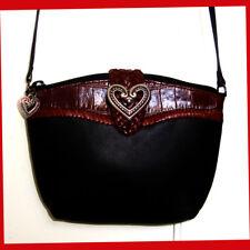 NWOT Brighton Leather Small Crossbody Bag Black & Brown
