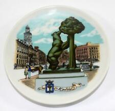 Vintage Madrid Travel Souvenir Plate