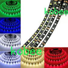 DC12V 5M 5050 300LED Strip Light car DRL DIY tape lamp Black PCB Waterproof IP65