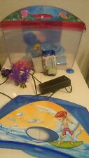 Childs kids plastic blue pink Marina Starter First fish tank filter aquarium