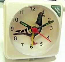 RACING HOMING PIGEON GIFT BIRDS BEDSIDE / TRAVEL ALARM CLOCK QUARTZ MOVEMENT