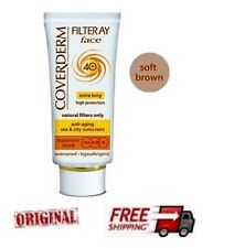 Coverderm Filterray Face Cream Soft Brown Sun Protection Anti Aging Spf40