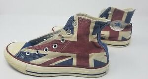 Converse All Star Chuck Taylor High Tops Flag Logo Mens Size 4.5