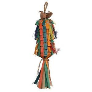 Parrot Essentials Rainbow Pinata Shredding Parrot Toy - Medium