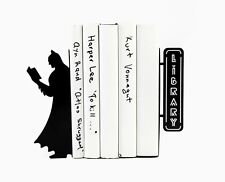 Reading Batman - steel bookends -  7,3x3.7x3,9 inches (18.5x9.5x10 cm)