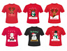 Women Men Christmas T-Shirt Santa Snowman Reindeer Rudolph Printed Xmas Top 8-24