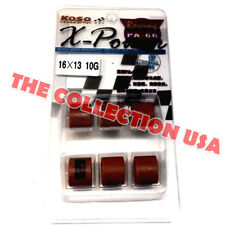 Performance Variator Weights Rollers 16x13mm 10 Gram Set For Gy6 50cc 139qmb