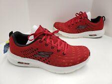 Mens Skechers GO RUN HYPER BURST SOLAR VIEW Running Shoes Red Black 220046 RDBK
