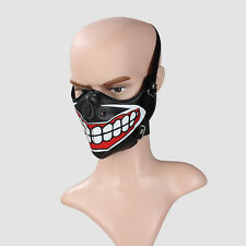 Black Leather Tokyo Steampunk Sports Cosplay Motocycle Biker Half Face Mask