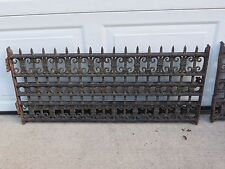 Antique Pair 2 Cast Iron Architectural Salvage Ornate Window Guards Grill Grates