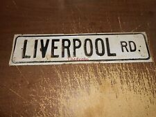 Vintage Liverpool Road Porcelain Street Sign England ??