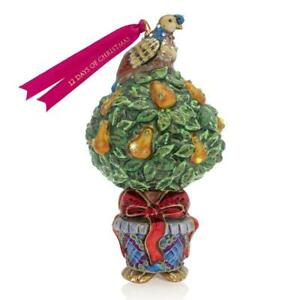 """Jay Strongwater Partridge In A Pear Tree Ornament 6 1/2 """" SDH 2220-250"""