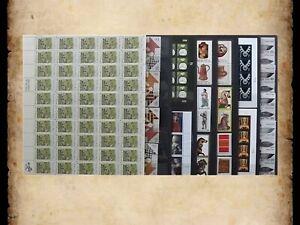 US Postage Stamps Face Value $42 + Unused Lot #49 Sheets Blocks Folk Art