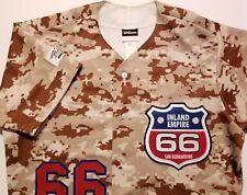 Inland Empire 66ers Military Night Pro Cut MiLB Wilson USA Mens Medium Jersey
