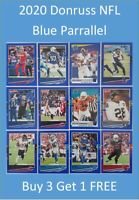 2020 Panini Donruss NFL Blue Parallel Press Proof cards - Buy 3 Get 1 FREE