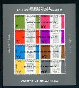 Salvador Scott #C347 MNH S/S OVPT Inter-American Conference CV$2+