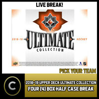2018-19 UPPER DECK ULTIMATE COLLECTION 4 BOX BREAK #H530 - PICK YOUR TEAM