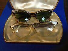 2PR Vintage Styl-Rite Horn Rimmed Eyeglasses 5.5 aluminum made in USA cats eye